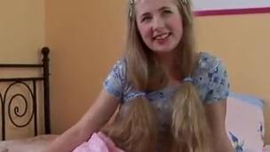 Hot Blonde Alexa Is Bringing Herself Much Delight