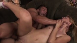 Lusty blonde begs to receive her smooth snatch completely wrecked