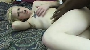 Pretty white tramp is eager and willing to test out some darker schlong