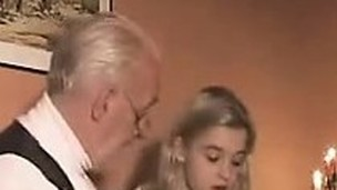 Blonde Teen Girl Drilled By An Old Fart