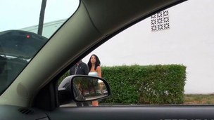 Eagle eye driver picks up a revengeful girlfriend and gets laid