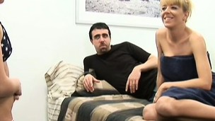 A perverted swinging couple take advantage of an innocent juvenile blonde