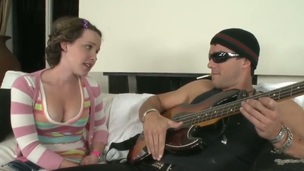 Ramon Nomar is spending unforgettable time with breasty teen girl Katie St. Ives. She shows body to dude before starting to suck his big throbbing piece of meat well.