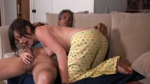Brunette Jennifer White and a lucky guy have a fun oral sex they wont soon forget