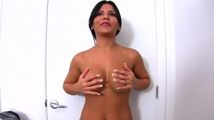 Damn this Latina chick is crazy hot and has an amazing curvaceous, big ass. Babe wishes to be hot porn start and she doesnt hesitates to show her charms in front of the camera.