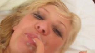 Greta licks And Deepthroats the yonker And has Facialed