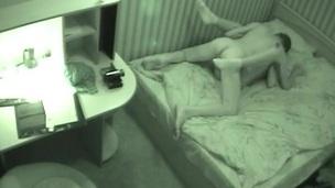 Hidden cam in his bedroom films the hot teen sex