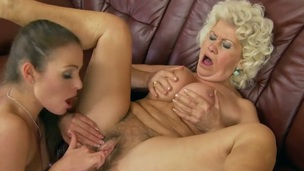 Brunette Effie enjoys another lesbian sex session with her girlfriend Nelly Sullivan