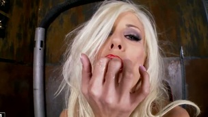 Blonde Puma Swede can not stop toying her beaver