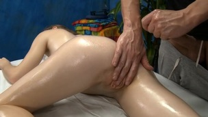 Rubbing oil all over beauty's body makes her very lascivious