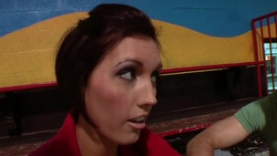 Sexy blowjob scene with naughty porn honey Dylan Ryder in nasty fuck action