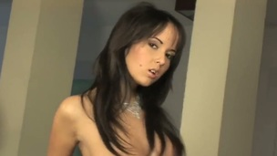 Angel Kiss has a spectacular body and she is flaunting it on the casting couch. She ultimately gets naked and begins rubbing her button. Before you know it, Angel is cumming real hard and loud.