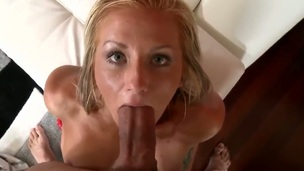 Turned on Nikki Blake and gorgeous and blonde babe Preston Parker both enjoy in their passionate sex session with lots of deep throating and blowjobs on knees in point of view.