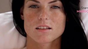 Freckled masturbates her smut peach