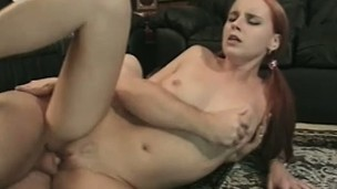 Alluring redhead with perky tits and a divine ass enjoys a hard fucking