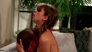 Riley Reid gagging on rock solid fuck stick of Danny Mountain