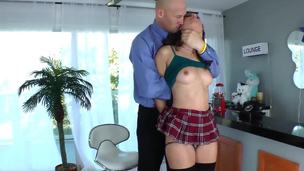 Big guy Christian XXX is about to get Casey Calverts ass drilled hard by his huge hard cock. The beauty is so into it, that cant handle herself, and not wet all the floor with her sweet pussy juice.