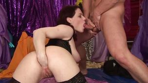 Lingerie clad fucked hard and rough