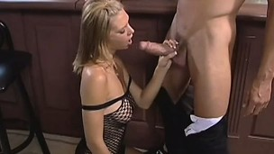 Big boob blonde does oral and gets her bawdy cleft nailed by his big dick