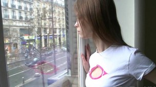 Beata is a kinky Russian teen rubbing her clit