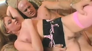 She gets drilled by a fat wang after giving head, and finishes with head for his load