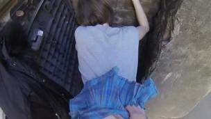 Teen Ruslana slit fucked upskirt in POV style
