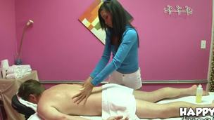 Kyle Stone tired of the daily hard work. He want to get professional massage. Asian girl Rosemary is renowned by her gentle hands. Babe presents him amazing relaxational massage.